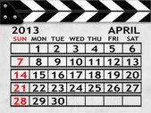 Calendar April 2013, Clapper board or slate style — Stock Photo