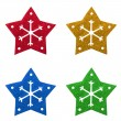 Snow flake Christmas tree topper — Stock Photo #21595017