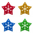 Snow flake Christmas tree topper — Stock Photo