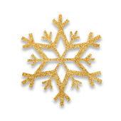 Snow flake Christmas tree topper — Stockfoto