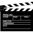 Stock Photo: Clapper board on white background.