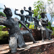 Sculpture of Classical Thai tune. Form of folk-dance in the sout — Stock Photo