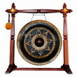 Thai native Gong isolated on white background. — Stock Photo