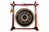 Thai native Gong isolated on white background. — Photo