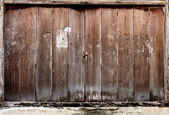 Wooden Folding doors is closed — Stock Photo