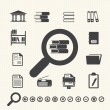 Documents Icons and Library icon. Vector — Stockvektor #32628303