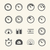 Meter icons. Vector — Stock Vector