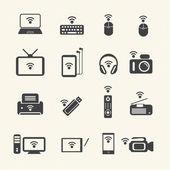 Wireless technology. Wireless equipment. Vector — Stock Vector