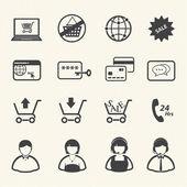 Shopping icon, Online shopping. — Stock Vector