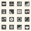 Simple set of diagram  graphs and statistic related vector icons — Stock Vector