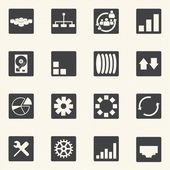 Simple set of diagram graphs and statistic related vector icons — Vector de stock