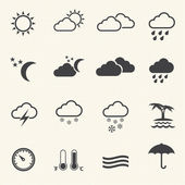 Weather Icons with texture background — Stockvektor