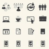 Business and Office Icons set — Cтоковый вектор