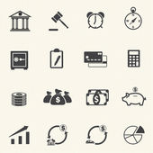 Finance Icons with texture background — Vector de stock