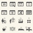 Business Time and Calendar icons set with texture background.  — Stock Vector