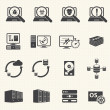 Programmer software development and Database management icons — Vetorial Stock #34443341