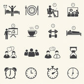 Man Daily Routine People icons set with texture background. — Stock Vector