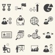 Human resource management and consulting business icons set, vector set — Stock Vector