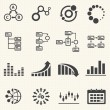 Business Infographic icons with texture background  Vector Graphics — Stock Vector