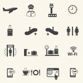 Airport icons set. Vector — Stock Vector