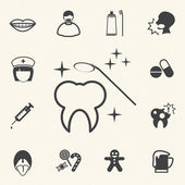 Dental and medical icons. Vector — Stock Vector