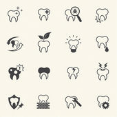 Tooth , teeth vector icons set — Vettoriale Stock