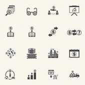 Business people Icons set. — Stock Vector