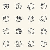 Daily Routine icons set. — Stock Vector