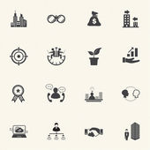 Business people Icons set. — Stockvector