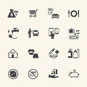 Business and financial icons set. — 图库矢量图片