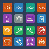 Airport icon. Flat icons set. Vector — Wektor stockowy