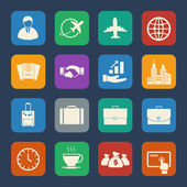 Business and Tourist icons set. Flat design for Website and Mobile applications. Vector — Vecteur