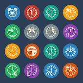 Business icons. Time management concept. Vector — Stock Vector