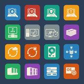 Big Data icons set — Vetor de Stock