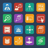 Big Data icons set — Stock Vector