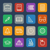 Simple Education icons set for Website and Mobile applications. Flat design. — Stockvektor