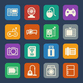 Home electronic Device icon. Flat icons set for internet marketing and services. Vector — Wektor stockowy
