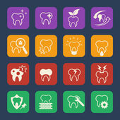Teeth vector icons set — Stock Vector