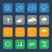 Väder ikoner — Stockvektor