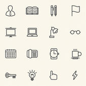 Vector of Education icons set with texture background. — Stock Vector