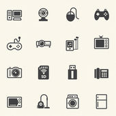 Home electronic Device icons set. — Stock Vector
