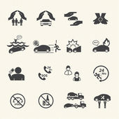 Car insurance icons set. — Stock Vector