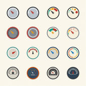Meter icons. Vector icons set. — Stock Vector
