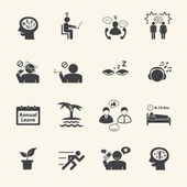 Stressed and Refreshing. Vector icons set. — Stock Vector