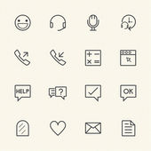 Call center icons set — Stock Vector