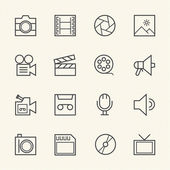 Movie technology icons. Line icon — Stock Vector