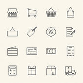 Shopping icon set, Line icon — Stock Vector