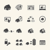 House and Real estate icons. — Stock Vector