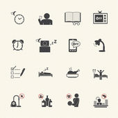 Get Up Early, Daily routine icon set — Cтоковый вектор