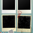 Vintage empty Photo frame Background. Vector Illustration. — Stok fotoğraf